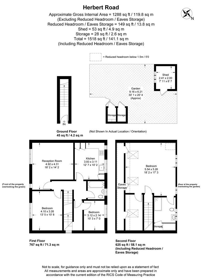 Floorplan for Herbert Road, Wimbledon